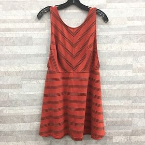 Free People Chevron Low Back Dress Size: M